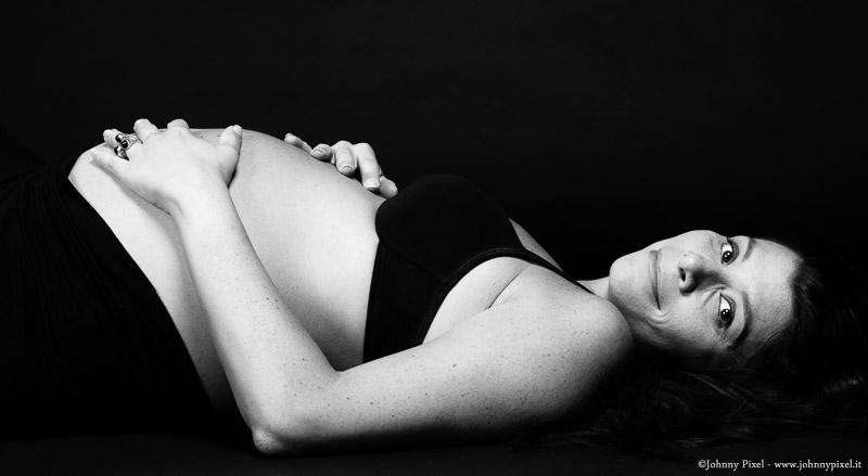 Servizio di gravidanza in bianco e nero